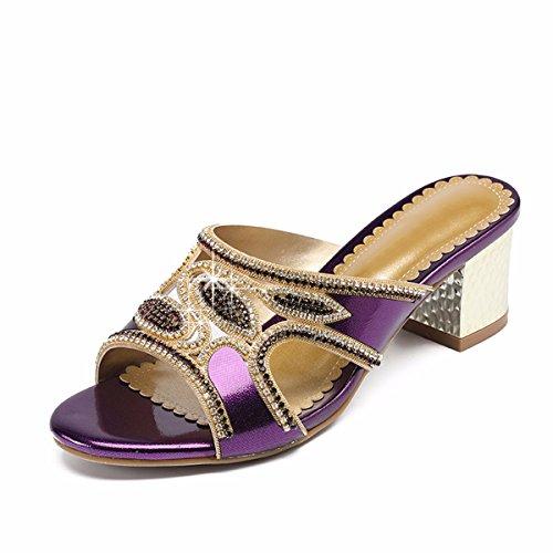 Sandalias QPSSP Sandalias Zapatillas Violet Sandalias Sandalias Mujer Sandalias De Y Zapatos RPwXrqP