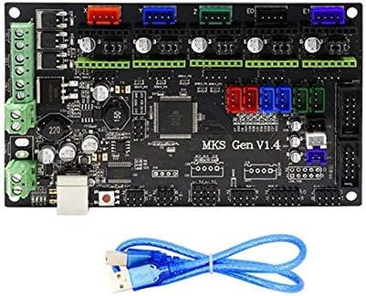 Ningbao Piezas de la Impresora 3D Placa Base MKS Gen V1.4 Tarjeta ...