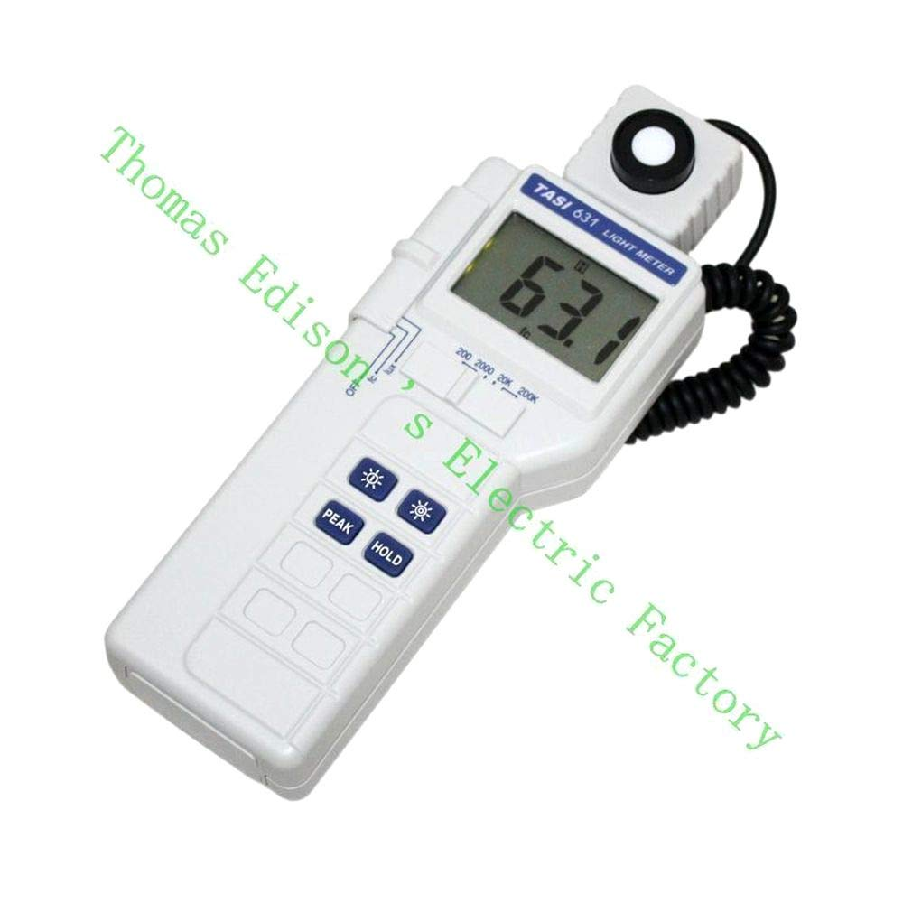 TASI-631 Digital Light Meter Luxmeter Meters LCD Backlight Peak-Hold 50mS Pulse Light and Data-Hold Features