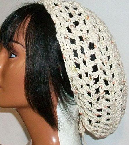 Amazon Beige Snood Crochet Hair Net Bad Hair Day Cover