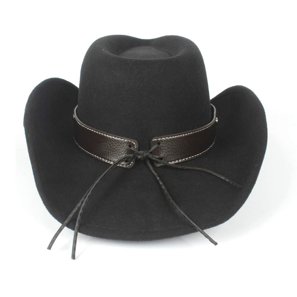 HYF Women Men Unisex Wool Hollow Western Cowboy Hat for Gentleman Steampunk Sombrero Hombre Caps Dad Hat