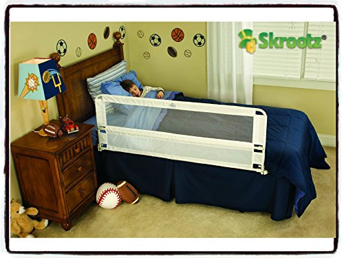 Premium Regalo Hide Away Extra Long Bed Rail, White - Made with Full Safety Metal Railings and Able to Tuck Under Mattress - Great for Children, Toddlers and Elderly - Protect Your Investment by Regalo