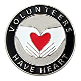 PinMart's Volunteers Have Heart Enamel Lapel Pin