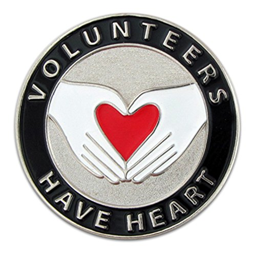PinMart's Volunteers Have Heart Enamel Lapel Pin (Award Volunteer Pins)