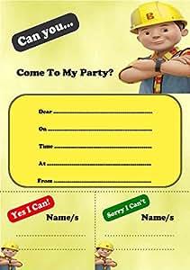 20Bob el constructor Cumpleaños Invitaciones y sobres
