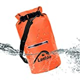 Lantoo Waterproof Dry Bag Sack, 15L Floating Compression Roll Top Dry Sack Backpack w/2 Zipper Pockets, Detachable Shoulder Strap, Keep Gear Dry for Kayaking, Rafting, Boating, Hiking,Camping,Fishing