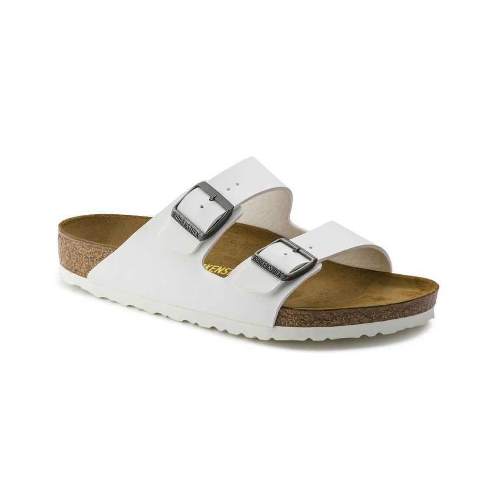 Birkenstock Arizona Women's White Birko-Flor Sandal 43/Women's US Size 12-12.5