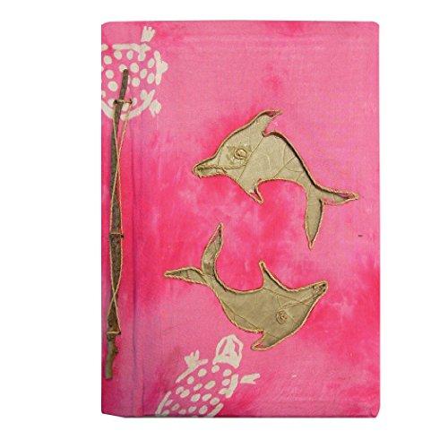 Tropical Scrapbook Albums - Rockin Gear Photo Album -Tropical Banana Leaf Sarong Portrait Style Photo Album and Art Scrapbook (Pink Dolphin, 8