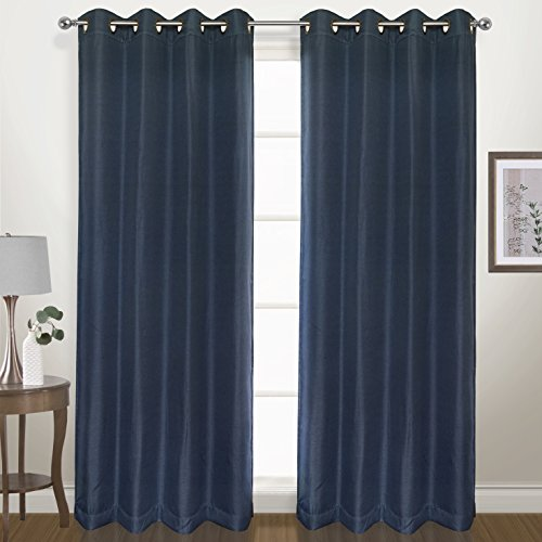 - United Curtain Herringbone Blackout Woven Window Panel, 54 by 63
