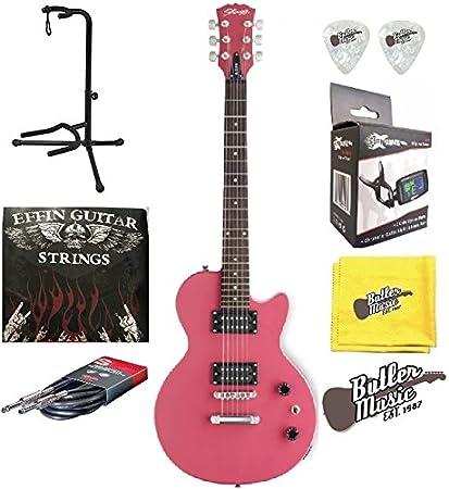 Stagg L250/PK Vintage Style Single Cutaway Guitarra eléctrica w/EFFIN cuerdas + más