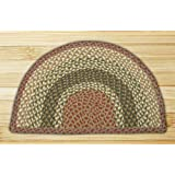 "Earth Rugs 32-LG024 Slice Rug, 24 by 39"", Olive/Burgundy/Gray"