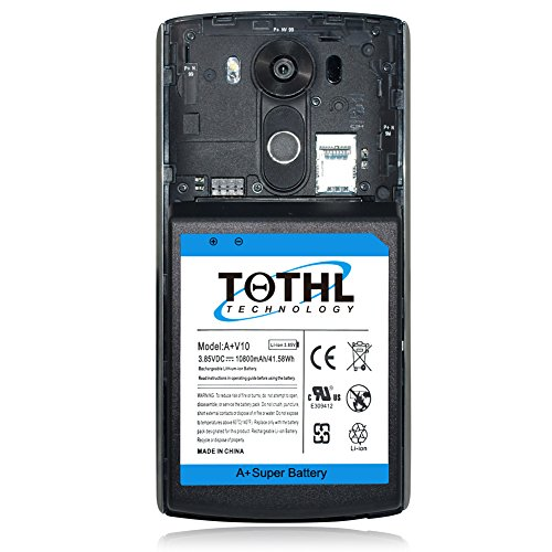 cheap for discount 6f7c7 5e297 TQTHL LG V10 [10800mAh] Extended Battery Replacement with Soft ...