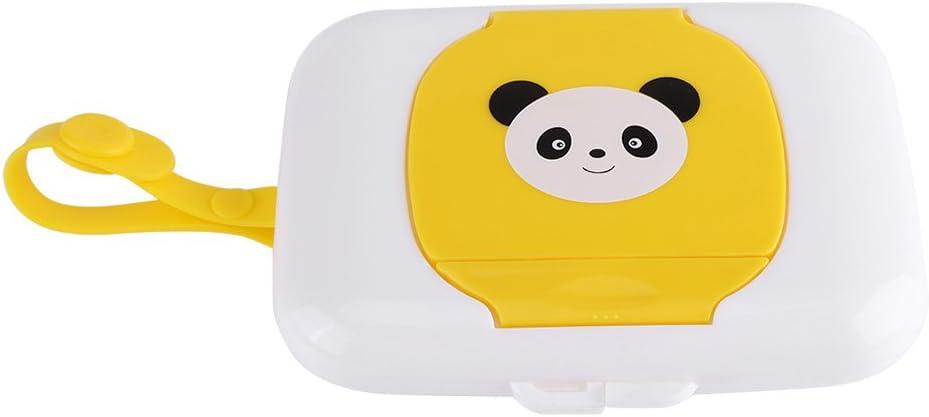 Panda Amarillo Fdit Caja de Almacenamiento de Toallitas H/úmedas para Cochecito Viaje al Aire Libre para Beb/és Caja Contenedor de Toallitas H/úmedas Recargable para Ba/ño Sala