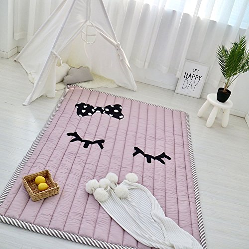 on Baby Crawling Cushion Non-slip Fresh Style Toddlers Mat Kids Play Mat Kids' Room Rug Activity Floor Carpet, Eyelash (Activity Carpet)