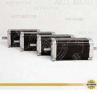 ACT Motor GmbH 4 Stück Nema23 Stepper Motor 23HS2442B Schrittmotor 4.2A 112mm...