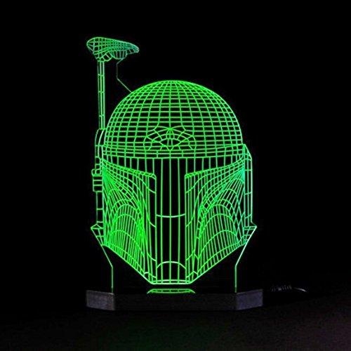 3D Illusion Boba Fett Lamp Star