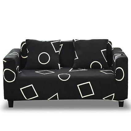 HOTNIU Funda Elástica de Sofá Funda Estampada para sofá Antideslizante Protector Cubierta de Muebles (Una Plaza, Modelo_jm)