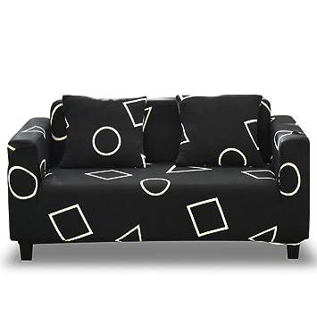 HOTNIU Funda de Sofá Elasticas Universal Fundas Decorativas para Sofas 4 Plazas, Antideslizante Protector/Cubierta de Muebles, Cuatro Plazas, ...