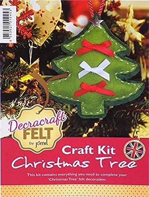 Infantil Crea Tu Propio Fieltro Árbol de Navidad Kit Manualidades ...