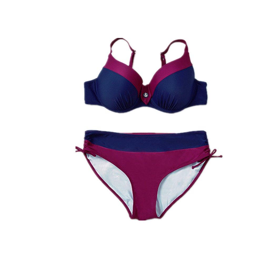 女性の 水着 エクササイズ 分割 ビキニ ビーチ バケーション水着 に適して 水泳 ウェディング エクササイズ スパ (Color : Blue, Size : 6XL) B07DYSWRQN 6XL Blue