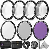 52MM Vivitar Professional UV CPL FLD Kit de accesorios para macro y primeros planos para lentes con un tamaño de filtro de 52 mm