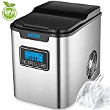 Appliances : Aicok Ice Maker, Counter Top Ice Maker Machine, Portable, Stainless Steel, 2 Quart Water Tank, Get Ice in as quick as 10 Minutes, Express Machine Can Make Over 26 lbs