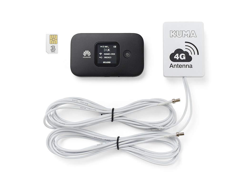 Kuma Pocket WiFi Sim Hotspot Kit - 4G Internet & Wireless Wi-Fi with  Booster for Caravans, Motorhomes/Trucks & Boats