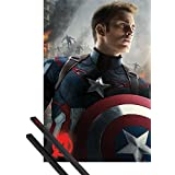 Poster + Hanger: The Avengers Poster (36x24 inches) Captain America And 1 Set Of Black 1art1® Poster Hangers