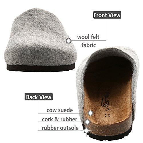 Womens Clogs for Grey Beige Sandals Red House Girls Black Grey Slip Ons Wine Slippers Home VVFamily TqHdpT