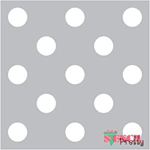 The Classic Polka Dot Stencil - Circles Nursery Allover Pattern Best Vinyl Large Stencils for Painting on Wood, Canvas, Wall, etc.-XS (9