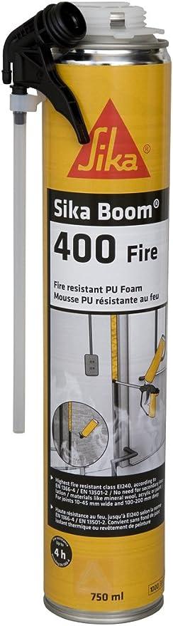 Sika Boom 400 Fire, Espuma de poliuretano con clasificación al fuego, 750ml, Rosa: Amazon.es: Bricolaje y herramientas