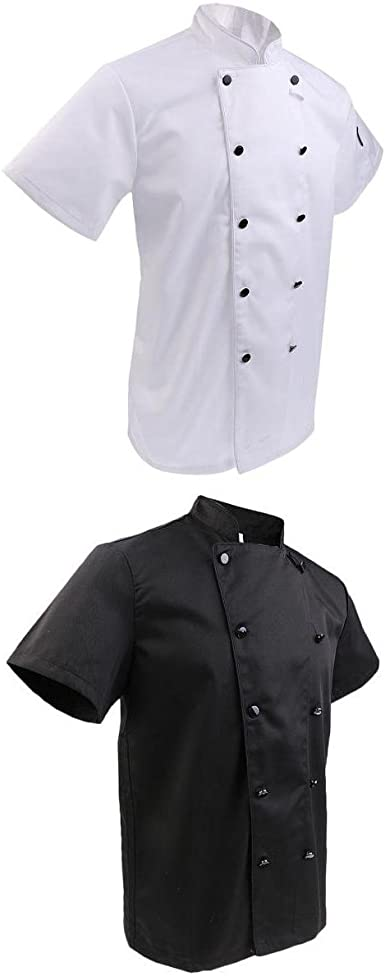 Fenteer 2x Chaqueta de Chef Unisex Camisas Uniforme ...