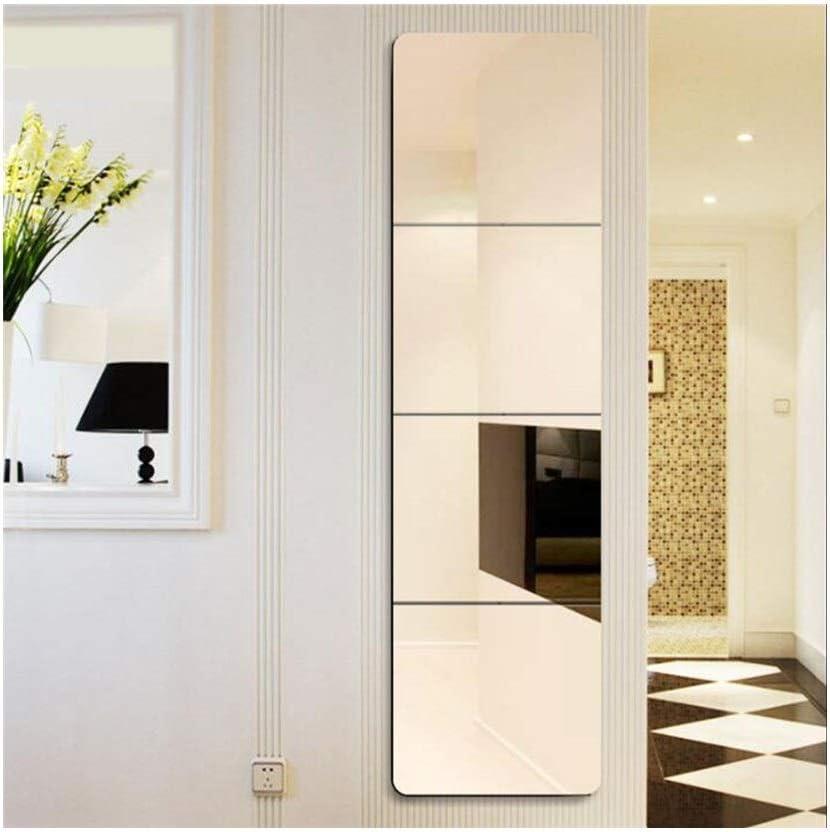 Espejo de Cuerpo Entero HD Armario montado en la Pared Espejo para vestirse del baño del Dormitorio, Juego de 4 Piezas, 11.8 in × 11.8in LDJ0530: Amazon.es: Hogar
