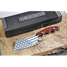 Wartech HWT214 Proud Of America Cleaver Fixed Blade Hunting Knife