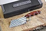 Wartech HWT214 Proud of America Cleaver Fixed Blade Hunting Knife (HWT214CH)