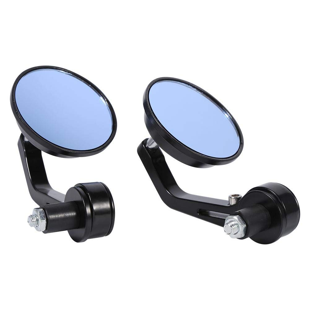 7//8 Universal Motorbike Mirrors Bar End Mirrors Round Motorcycle RearView Side Mirrors Chrome