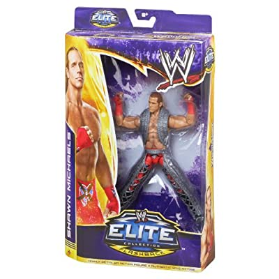 WWE WrestleMania Flashback Elite Shawn Michaels Action Figure: Toys & Games