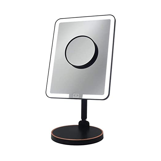 Impressions Vanity Royale Petit LED Light Strip Makeup Mirror Wireless Charging Charcoal