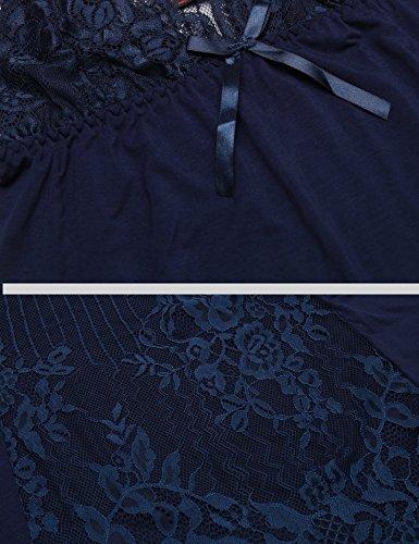 Donna ADOME da notte Marineblau Camicia ZxgtxYp
