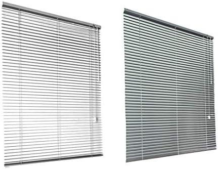 HSYLYM Persianas venecianas Habitación de Aluminio Oscurecimiento Muebles para el hogar Protección contra el Resplandor Decoración de Ventanas Persianas de Oficina (Blanco, 120x130cm): Amazon.es: Hogar