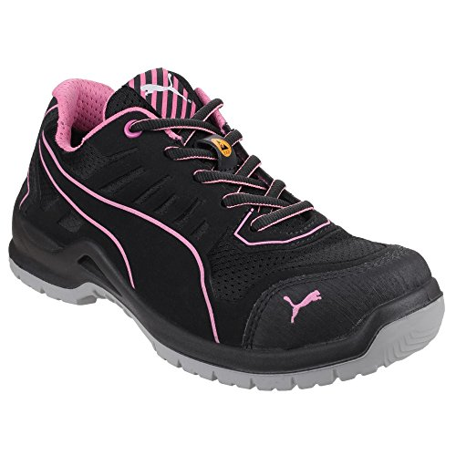 Puma Safety Donna Fuse TC Rosa Leggere Scarpe da Ginnastica Stringate Sneakers Nero