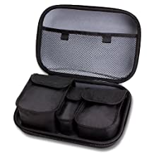 Digital Multitrack Recorder Carrying Case for TASCAM DP-008EX and DP-006 with Hard Shell Design and Internal Mesh Pocket - Holds your Chargers , Adapters , Microphones and Other Digital Accessories