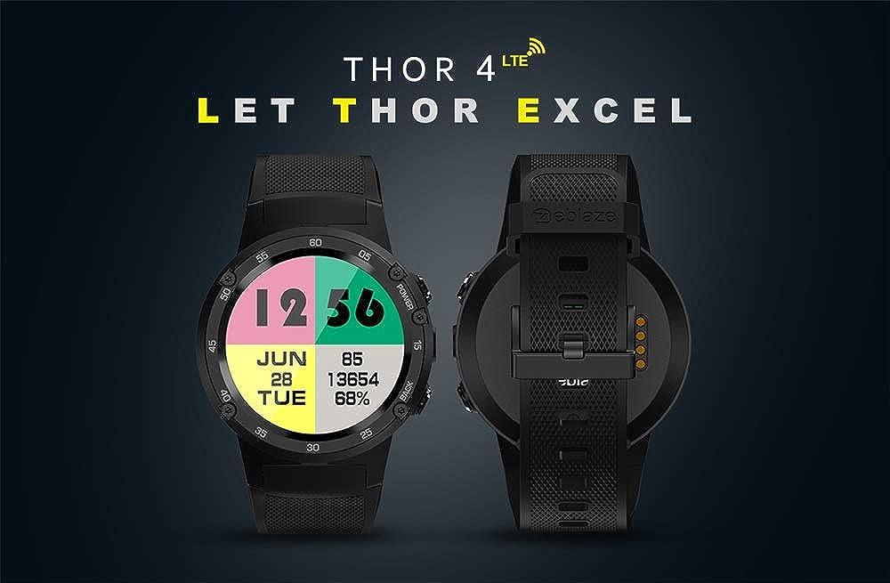 Zwbfu Zeblaze Thor 4 4G LTE GPS WiFi Reloj Inteligente para ...