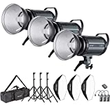 Neewer 900W Studio Strobe Flash Photography Lighting Kit:(3)300W Monolight,(3) Reflector Diffuser,(3) Softbox,(3) Light Stand,(1) RT-16 Wireless Trigger,(1) Bag for Shooting Bowens Mount(S-300N)