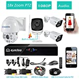 Eyedea H 1080P 8 CH Phone View Standalone Network Access DVR 2.0MP 5500TVL 18 x Zoom Outdoor PTZ Speed Dome Audio Built in Indoor CCTV Security Camera System