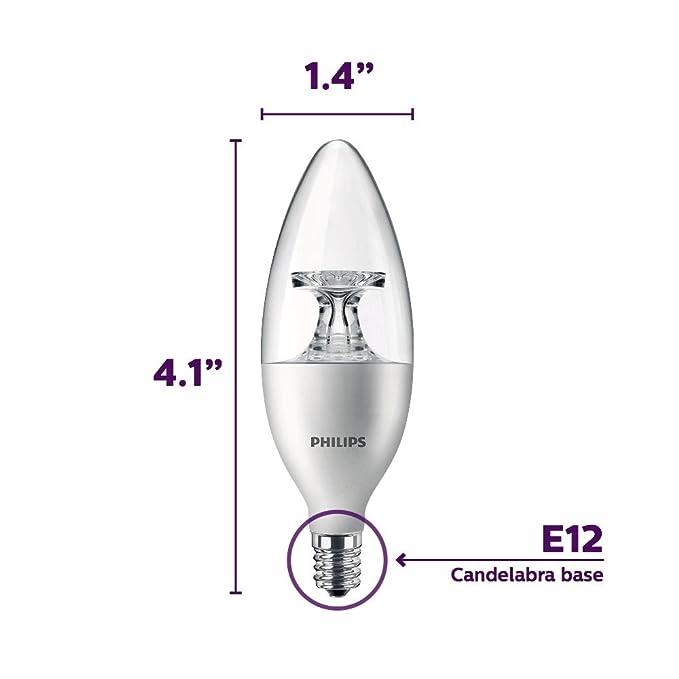 Amazon.com: Bombilla LED B11 Philips 461863 equivalente a 40 ...