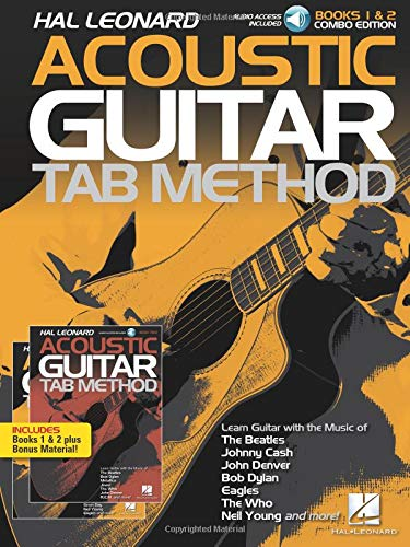 Hal Leonard Acoustic Guitar Tab Method - Combo Edition: Books 1 & 2 with Online Audio, Plus Bonus Material ()