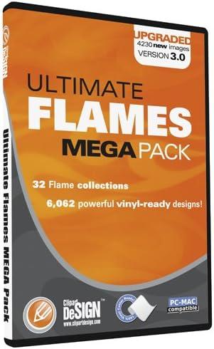 Amazon Com Flames Clipart Vinyl Cutter Plotter Clip Art Images Tribal Flame Vector Art Sign Design Graphics Cd Includes Flames Mini Pack As A Free Bonus A 30 Value Software
