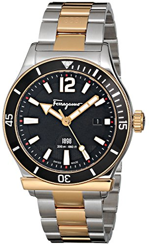 amazon com salvatore ferragamo men s ff3160014 ferragamo 1898 amazon com salvatore ferragamo men s ff3160014 ferragamo 1898 sport analog display quartz two tone watch watches