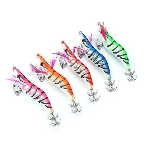 5pcs Shrimp Fishing Luminous Soft Prawn Lure Hook Tackle Bait Sea Fishing Lures